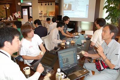 ツイッター朝活(福井)では新しい方を交えてにぎやかに開催。 #twifukui 02