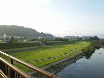 8月04日・朝のひとっ走り、初めて景色を見る余裕が