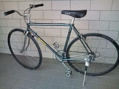 自転車トレーナーに45分とハンドル交換。01