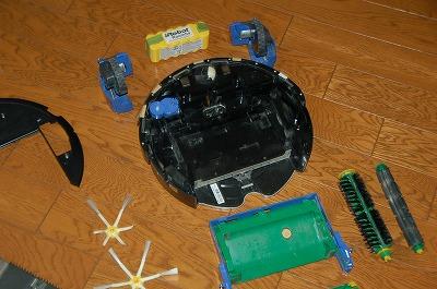 ロボットの内部は凄く綺麗で結局修理依頼となる。02