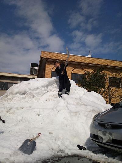 目で見える事って大切:今年は雪が少なくて助かります。