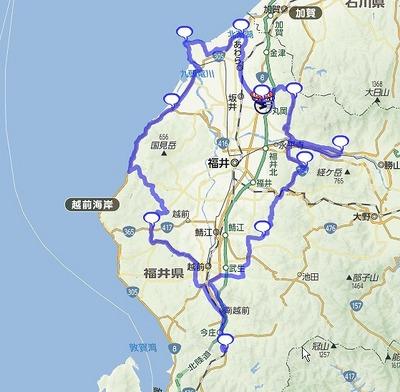 丸岡ブルベBRM601(200km)の準備:コース編・Googleマップへのインポート01