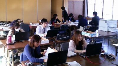 所得税確定申告・第一回目の提出日の今日は各班ともフル稼働です。