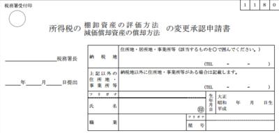 個人の減価償却資産の償却方法の届出は『届出』と『変更承認申請』が有り要件や提出期限が異なる02