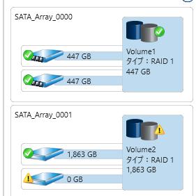 サーバーHDD交換のメモ02